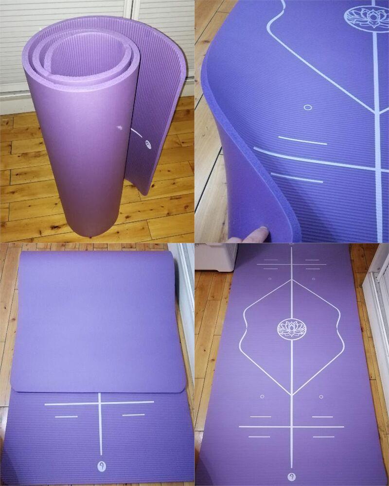 10mm Yoga Mat for Beginner with Position Line Non-slip Gym Yoga Mat Thicken Widen Men Women Yoga Exercise Dance Fitness Mat 27