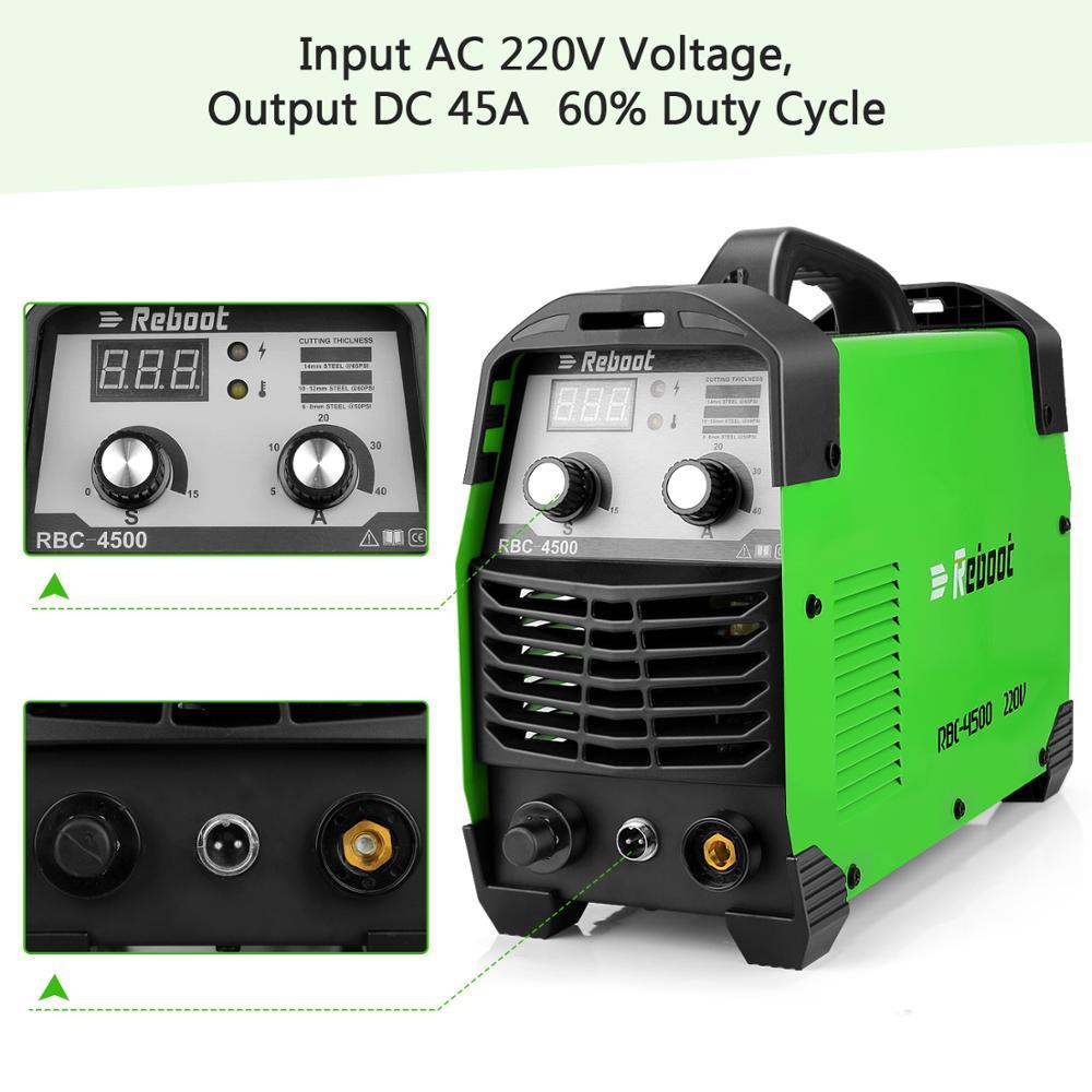 Cutter Machine Plasma Reboot Plasma Clean Metal Machine Voltage Cutter Inverter AC220V Cutting Air Cutting 45Amps Cutting