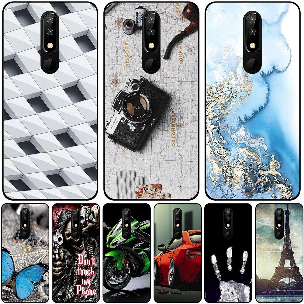 Sacos de telefone & casos para bq 5732l aurora se 2019 5.86 Polegada capa silicone macio moda mármore inkjet pintado concha saco