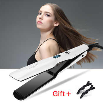 Professional Wide Plates Hair Straightener Curler Ceramic Flat Iron Keratin Straightening Curling Irons Styling Tool 360 Degree9 - DISCOUNT ITEM  39 OFF Beauty & Health