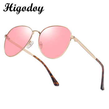 Higodoy New Retro Oversized Metal Sunglasses Men Polarized Fashion Oval Vintage Women Outdoor Sexy Woman 2019