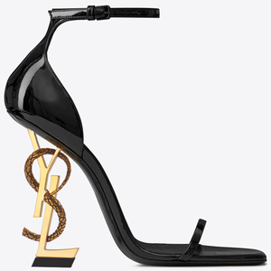 2020 New Y Style Women's Glossy Lettered Patent Leather Heels Sex Appeal Weddings Parties Luxury Women's Shoes Size 34-43 No Box