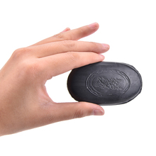 Clear Away The Harmful Substance Black Bamboo Charcoal Soap Face Body Anti Bacterial Tourmaline