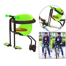 Child Bicycle Safe Baby Seat Infant Carrier Front Mount Saddle Cushion with Backrest Handrail Foot Rest Pedals Bike Newborn Pew