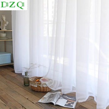 Solid White Tulle Curtains for Living Room Bedroom Sheer Curtains Modern Organza Voile Decorative Window Treatments Curtains tulle modern window curtains for living room solid sheer curtains for bedroom voile drapes curtains window screening treatments