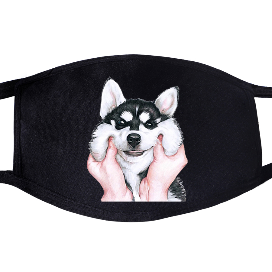 Husky Funny Dog Animal  Pattern Face Masks Mouth Kawaii Cute 1pcs Dustproof Unisex Anti Dust Cycling Respirator Protective Mask