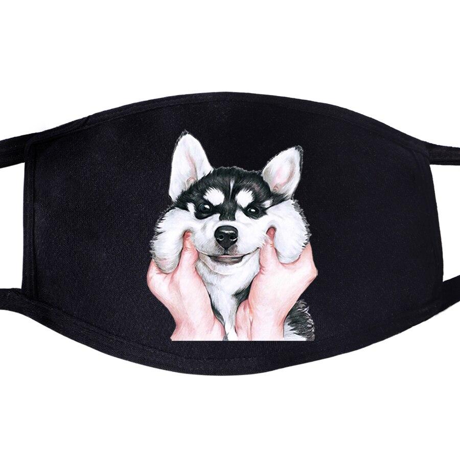 Husky Funny Dog Animal  Pattern Face Masks Mouth Kawaii Cute 1pcs Dustproof Unisex Anti Dust Cycling Respirator Protective Mask