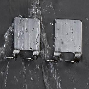 2PC 304 Stainless Steel Razor Holder Men Shaving Shaver Shelf Shaving Razor Rack Bathroom Home Viscose Wall Hooks Hanger