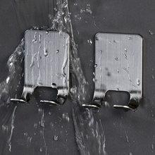 2 pezzi in acciaio inox porta rasoio uomini rasatura rasoio mensola rasatura rasoio cremagliera bagno camera da letto casa viscosa ganci a parete appendiabiti