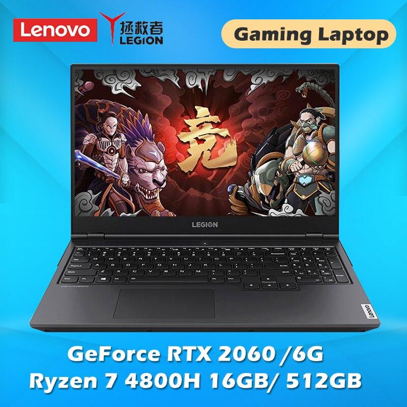 Gaming laptop Lenovo Legion R7000P Notebook With AMD Ryzen 7 4800H Windows 10 15.6 inch 16G 512G