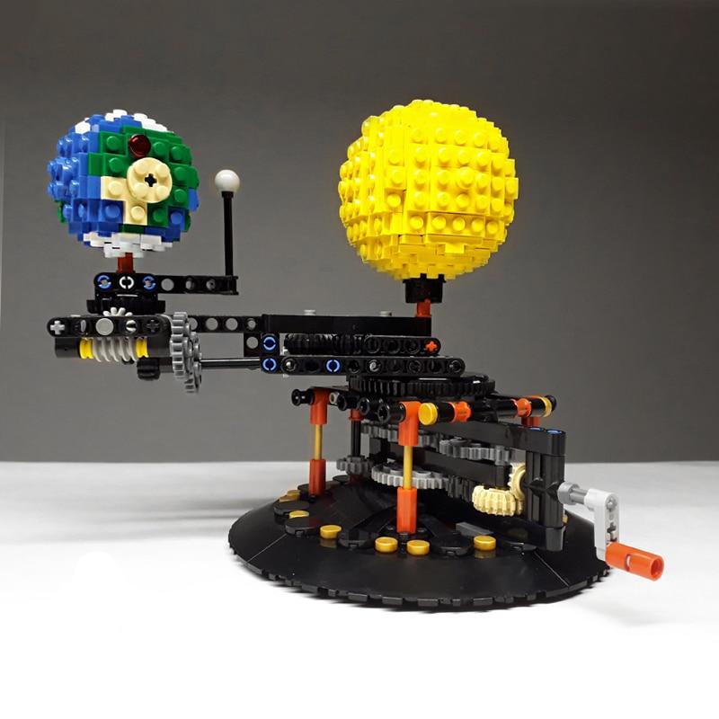 Конструктор MOC Idea, модель земли, Луны и солнца 4477, «сделай сам», Алмазный Мини-микроблок, строительные блоки, кирпичи, сборка, игрушки, игра
