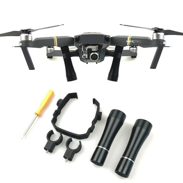 Vôo da noite flash led kit lâmpada de luz para dji mavic pro drone iluminação acessório