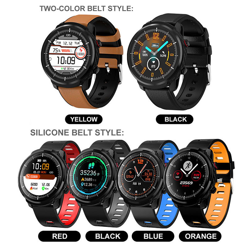 L3 Waterproof Smart Watch with Round Screen Heart Rate Pedometer and Call Message Reminder Smart Activity Tracker for Women Men 17