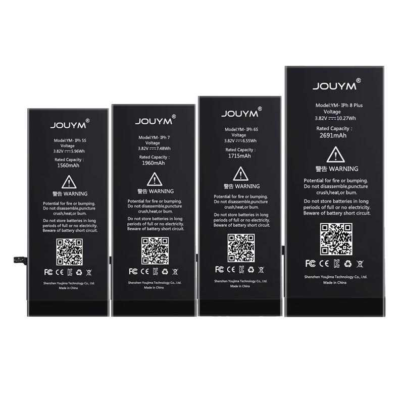 JOUYM מקורי טלפון סוללה עבור iPhone 6 6S 7 8 5S 5 SE 6 בתוספת החלפת איכות Bateria עבור iPhone6 iPhone7 עם ערכת כלים