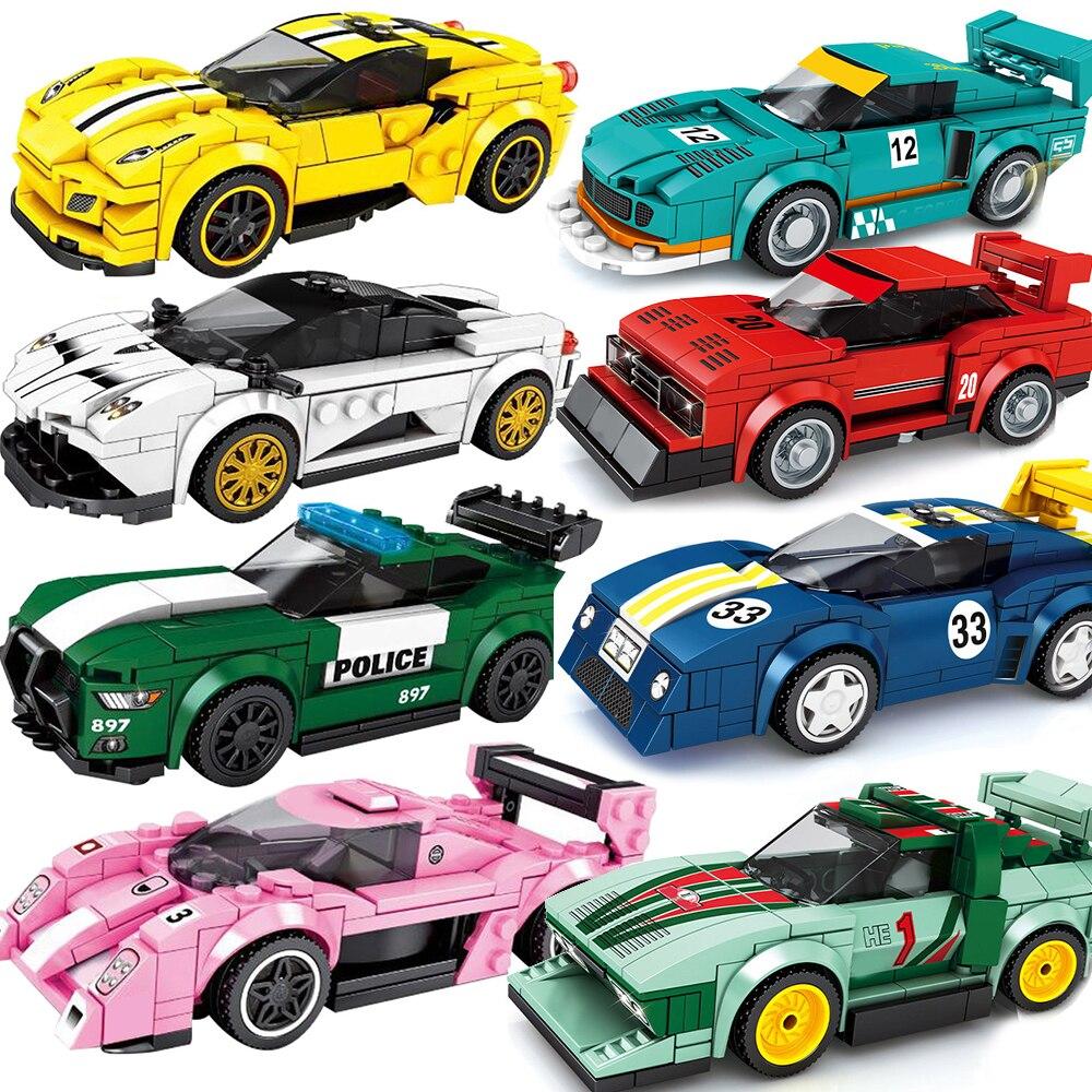 City Vehicle Speed Champion Racing Sports Car Building Block Kit Off Road Model Bricks Educational DIY Toys for Children Boys