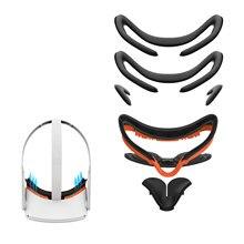 Adecuado para Oculus PREGUNTA 2 máscara de ojo de cuero de la PU de protección de la cara cubierta de algodón reemplazo kit de confort 7 en 1