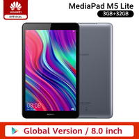 Global Version HUAWEI MediaPad M5 lite Tablet PC 8.0'' 1920 x 1200 Display 3GB 32GB Kirin 710 5100 mAh Android 9 Google Play