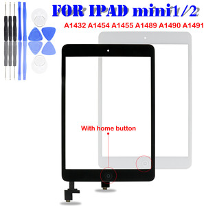 For iPad Mini A1432 A1454 A1455 Mini 2 A1489 A1490 A149 Digitizer touch screen glass sensor Panel with ic + home button(China)
