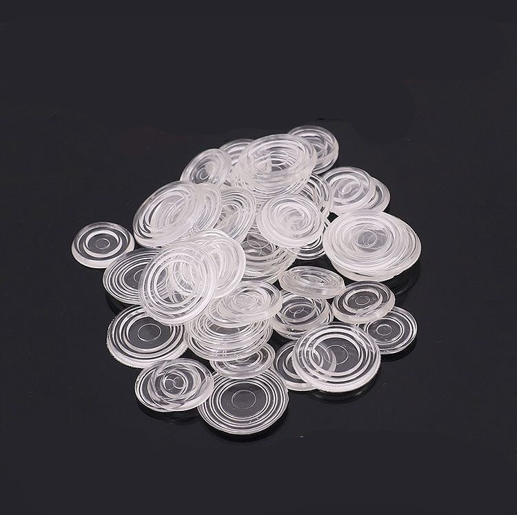 10pcs Desk/table Round Rubber Pad Desktop Suction Cup Non-slip Pad Glass Silicone Tea Table Pad Double-sided Particle-absorbing