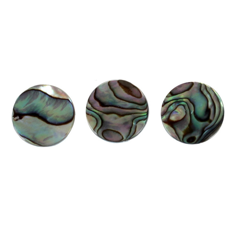 Chrome Plated Abalone Shell Finger Button Wind Instruments Accessories Trumpet Tool Music Lovers Gift Pack Of 3