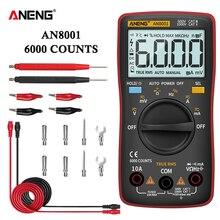 Aneng AN8001 Digitale Multimeter Profesional 6000 Telt Condensator Tester Esrmeter Spanning Multitester Universal Meter Tester