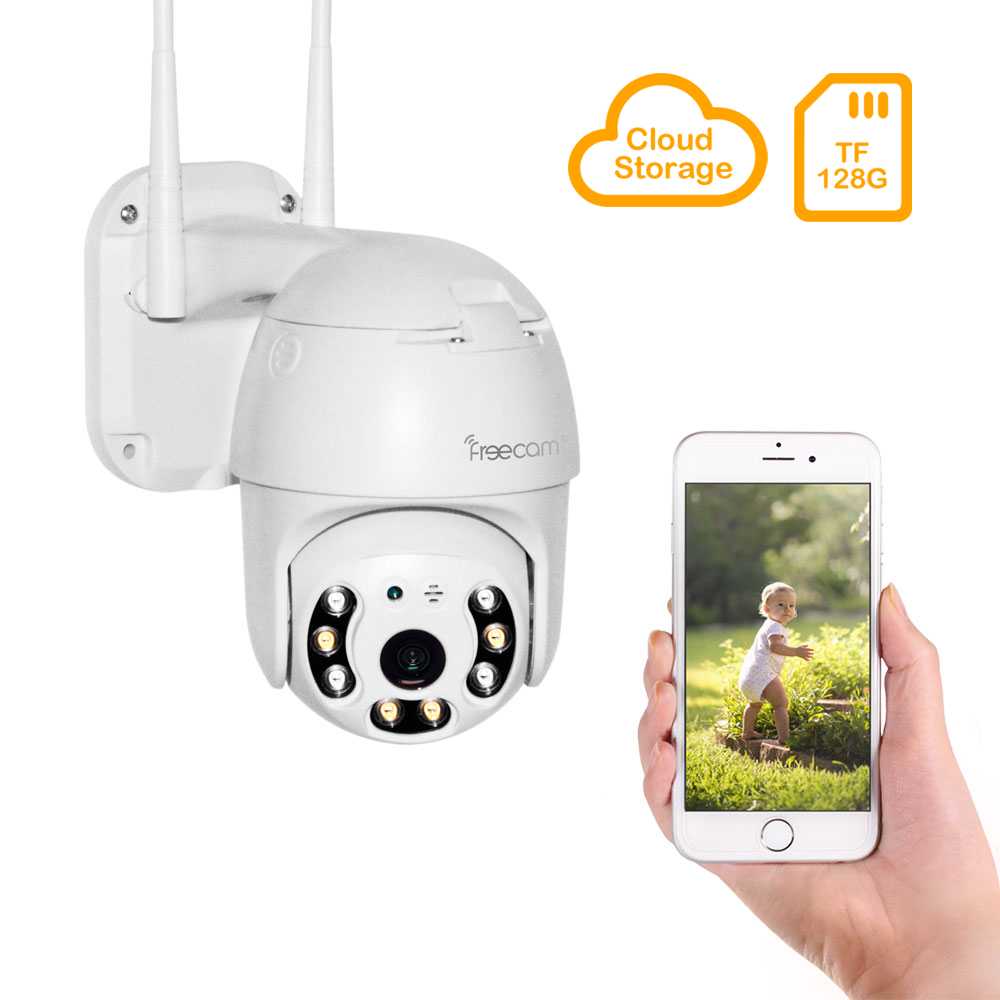 FREECAM Outdoor PTZ HD 1080P Wireless WiFi IP PTZ Auto Tracking Home Security Camera L250