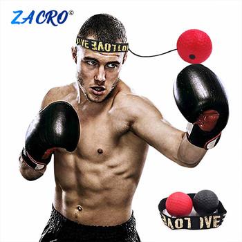 Boks Reflex prędkość Punch Ball MMA Sanda bokser podnoszenie siły reakcji ręka oko zestaw treningowy stres siłownia boks Muay Thai ćwiczenia tanie i dobre opinie ZHC0117 Pu ball 1 x Fight Ball +1 x HeadBand