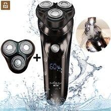 Xiao mi Youpin – rasoir électrique intelligent pour hommes, avec écran LCD, avec minuterie, IPX7