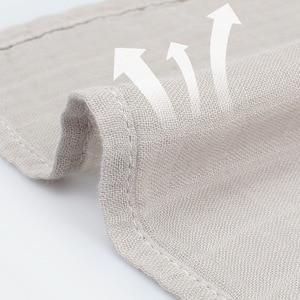 Image 2 - 120x120 см бамбуковое одеяло Пеленальное Одеяло детское муслиновое Пеленальное Одеяло однотонная хлопковая Детская Одеяло для новорожденных