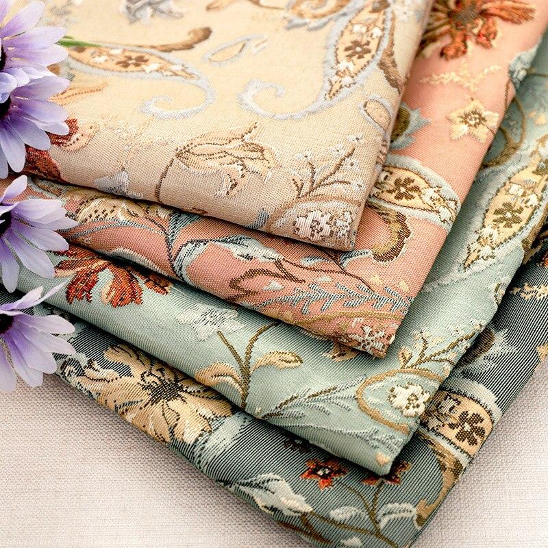 Geprägte jacquard mantel stoff hervorragende qualität stoff nähen material für DIY kleid frauen exquisite muster design stoffe