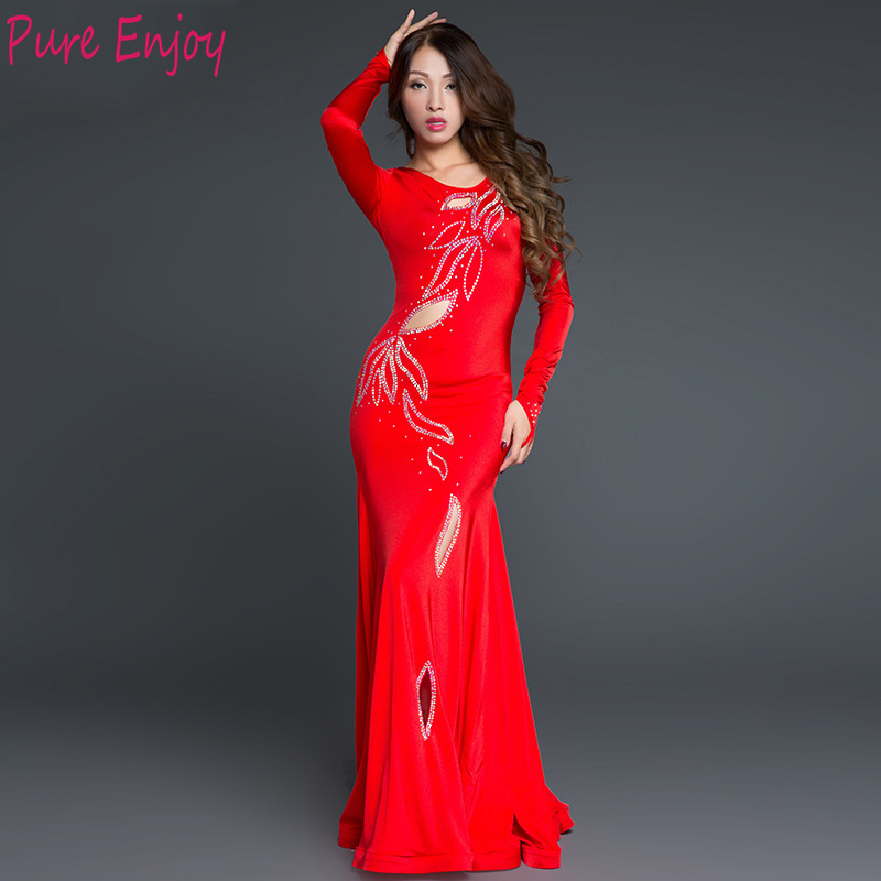 2019 Belly Dance Costumes For Women Stage Performance Suit Long Dress Robe Khalegy Khaliji Shakes Robes Clothes