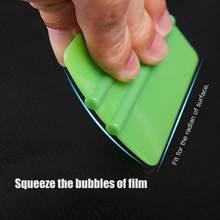 1 pçs durável handheld borda feeled rodo vinil ferramenta de aplicação envoltório de carro macio para folha de carro quadrado raspagem sem adesivo carro-estilo