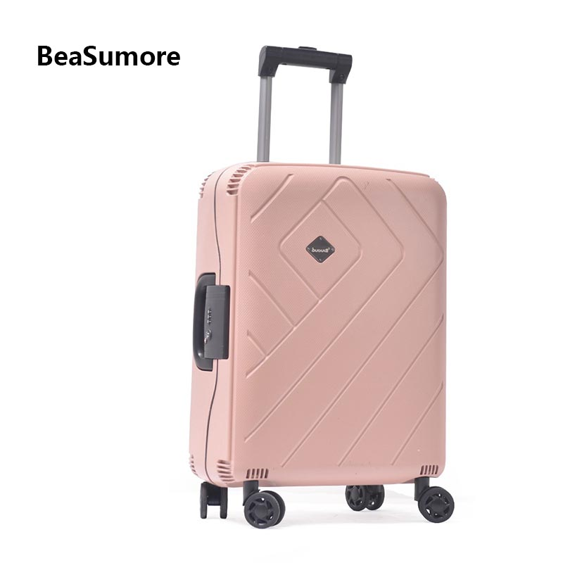 BeaSumore Password Rolling Luggage Spinner 24/28 Inch Ultralight PP Women Suitcase Wheel High Quality 20 Inch Cabin Trolley