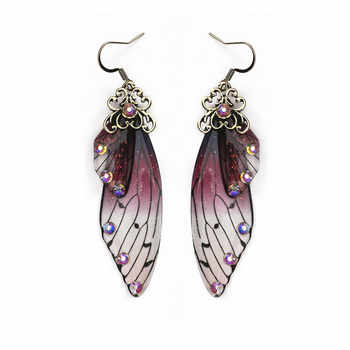 Korean Earrings Long Butterfly Wing Drop Earrings for Women Rhinestone Trendy Gold Dangle Earring Fashion Wedding Jewelry Gifts - DISCOUNT ITEM  45% OFF All Category