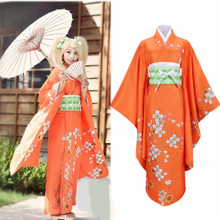Costume Adult Kimono Anime Orange Saionji Hiyoko Super-Danganronpa Women Dress Halloween
