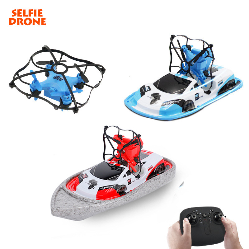 Global Drone Gw123 Three-in-One Mini Unmanned Aerial Vehicle Sea Aircraft Remote Control Car Boat
