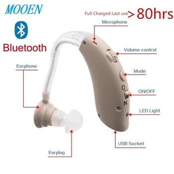 2020 Bluetooth najlepszy aparat cyfrowy aparat słuchowy aparat słuchowy aparat słuchowy o dużej mocy aparat słuchowy urządzenie głuchota tanie i dobre opinie MAGIC DRAGON