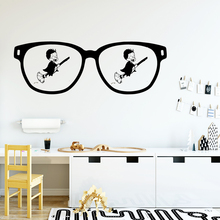 Diy glasses Home Decorations Pvc Decal Wall Decals Decoration Accessories Bedroom Stickers LW546