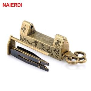 NAIERDI Zinc Alloy Chinese Old Lock Vintage Antique Lock Retro Keyer Padlock Jewelry Wooden Box Padlock Lock for Suitcase Drawer(China)