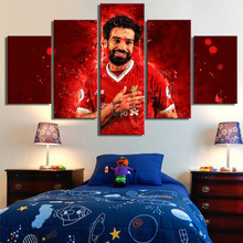 Sports Liverpool Salah Posters Wall Art 5 Pieces Canvas Print Paintings Prints Football Home Decor Frame