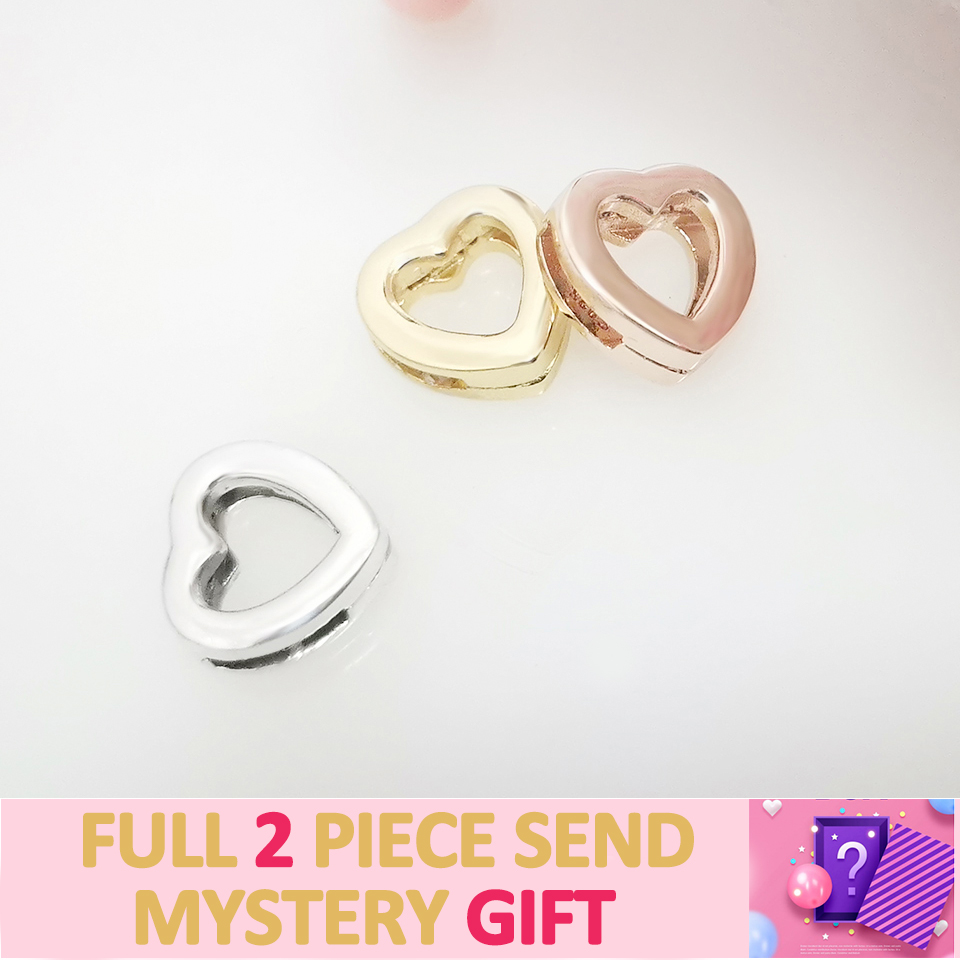 2020 NEW 925 Sterling Silver Charms Heart Shape Suitable For Bracelet Matching Gift Fit Original Pandora DIY Jewelry