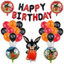 1 комплект с кроликом из мультфильма фольги воздушный шар с гелием черный, красный 30 дюймов номер детского дня рождения С Днем Рождения вече...