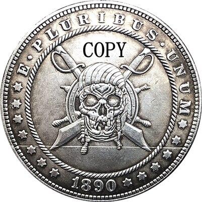 Hobo Nickel 1890-CC USA Morgan Dollar COIN COPY Type 159