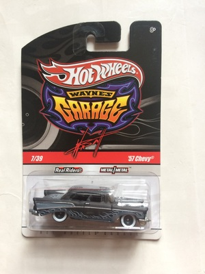 Hot Wheels Car 57 CHEVY  Grey Metal Diecast Model Car