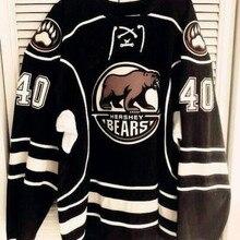 Редкий Винтаж-16 Hershey Bears#40 Caleb herber throwback хоккейная Джерси Вышивка сшитая под заказ любое количество и имя