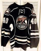 Seltene Vintage 2015-16 Hershey Bears #40 Caleb Herbert rückschritt Hockey Jersey Stickerei Genäht Fertigen jede nummer und name