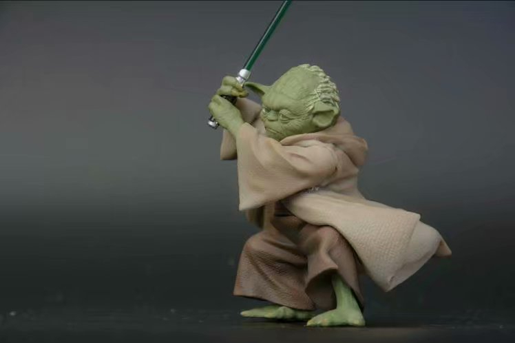 Toys & Hobbies ... Action & Toy Figures ... 32587613277 ... 4 ... Disney Star Wars Yoda Darth Vader Action Figure Doll Toys The Force Awakens Jedi Master Yoda Anime Figures Lightsaber ...
