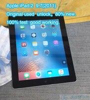 Apple-IPad 2 Original renovado, 2011, 9,7 pulgadas, Wifi, color negro, novedad de 80%