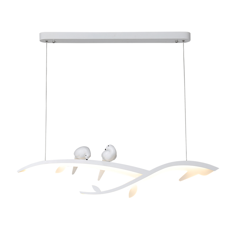 Image 5 - Modern Led Hanging Chandelier For Dining Room Kitchen Room Bar Shop Chandelier White With Bird 90 260V Free Shipping-in Chandeliers from Lights & Lighting