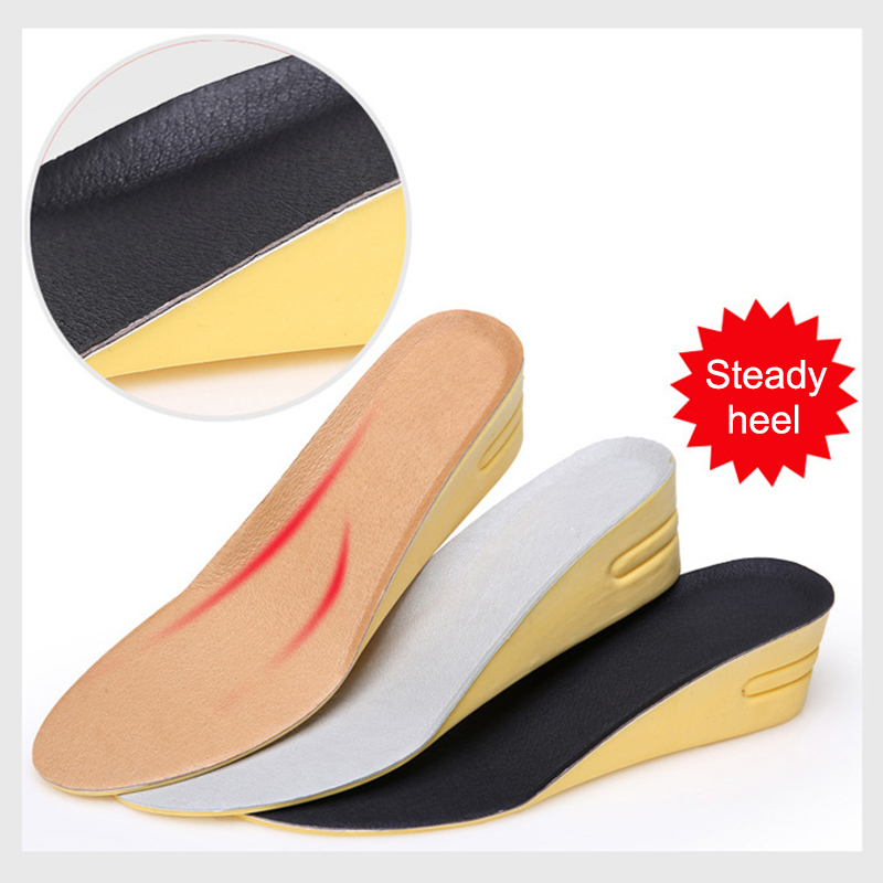 1 Pair Women Men Height Increase Insoles Shock Absorption Anti-slip Arch Support Inserts Shoe Lifts Shoe Pads Elevator Insoles